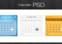 Calendars PSD